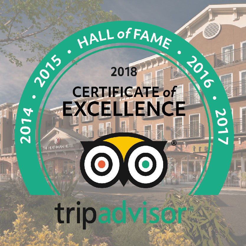 TripAdivsor Certificate of Excellence Hall of Fame Badge