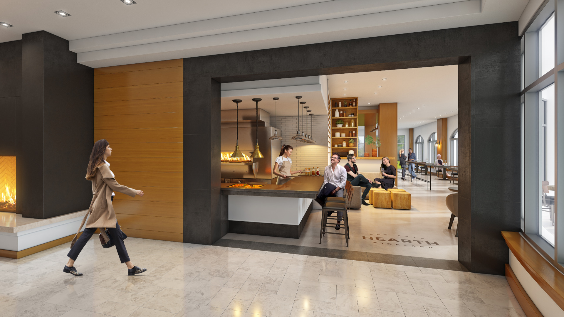 Hearth Restaurant Rendering